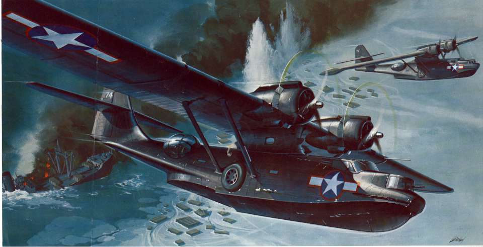 04df4f22ba5 Revell Consolidated PBY-5A Catalina Black Cat 1969