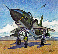 Republic F-105 Thunderchief by Mike Machat-960